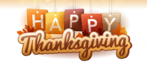 HAPPY THANKSGIVING TO OUR CANADIAN FANS